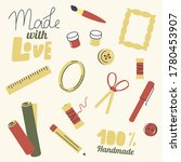 set of icons for handmade hobby.... | Shutterstock .eps vector #1780453907