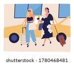 happy women going on vacation... | Shutterstock .eps vector #1780468481