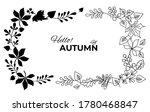 vector autumn wreath of falling ... | Shutterstock .eps vector #1780468847