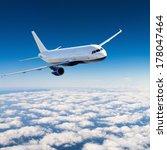 airplane in the sky   passenger ... | Shutterstock . vector #178047464