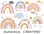 vector rainbow clipart set....   Shutterstock .eps vector #1780475987