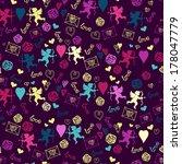 bright seamless. love. romantic....   Shutterstock .eps vector #178047779