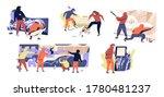 set of vandals hiding under... | Shutterstock .eps vector #1780481237