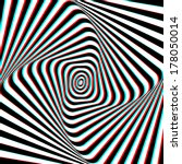 optical illusion   anaglyph opt ... | Shutterstock .eps vector #178050014
