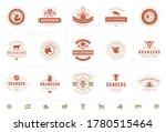 butcher shop logos set vector... | Shutterstock .eps vector #1780515464