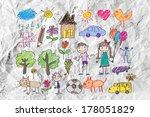 children's drawings idea design ... | Shutterstock . vector #178051829