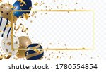 luxury gold foil balloons with... | Shutterstock .eps vector #1780554854