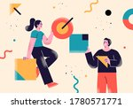 flat style business people... | Shutterstock .eps vector #1780571771