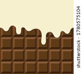 cream melted on chocolate bar...   Shutterstock .eps vector #1780575104