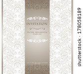 light beige ornamental pattern... | Shutterstock .eps vector #178058189