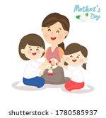 kids giving thai graland for...   Shutterstock .eps vector #1780585937