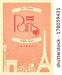 Love Paris Vintage Retro Poste...