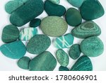 sea stones turquoise on a white ... | Shutterstock . vector #1780606901