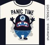 monster graphic design for t... | Shutterstock .eps vector #178061435