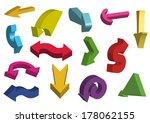 3d arrows. vector illustration.   Shutterstock .eps vector #178062155