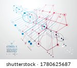 mechanical scheme  vector... | Shutterstock .eps vector #1780625687