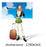 travel sketch   with an... | Shutterstock .eps vector #17806363