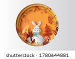 paper art style of autumn... | Shutterstock .eps vector #1780644881