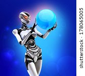modern designed robotic sci fi...