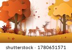 paper art style of autumn... | Shutterstock .eps vector #1780651571