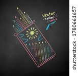 vector color chalk drawn... | Shutterstock .eps vector #1780661657