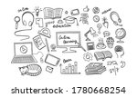 online education hand drawn...   Shutterstock .eps vector #1780668254