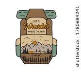 vintage camping adventure badge ... | Shutterstock .eps vector #1780684241