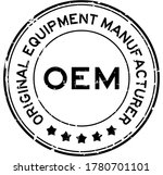 grunge black oem  abbreviation... | Shutterstock .eps vector #1780701101