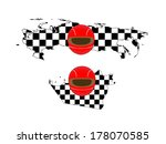 racing flag maps 8 russia abu... | Shutterstock . vector #178070585