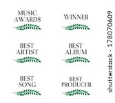 music awards winners 3 | Shutterstock . vector #178070609