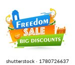 freedom sale poster design with ... | Shutterstock .eps vector #1780726637