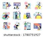 online shopping set of isolated ...   Shutterstock .eps vector #1780751927