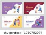 online education set of four...   Shutterstock .eps vector #1780752074