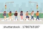 mix race  multi ethnic children ... | Shutterstock .eps vector #1780765187