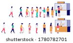 people waiting in line at... | Shutterstock .eps vector #1780782701