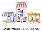 online to offline commerce ... | Shutterstock .eps vector #1780785701