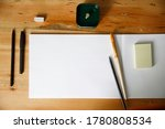workplace with paper ... | Shutterstock . vector #1780808534