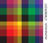 rainbow plaid  checkered ... | Shutterstock .eps vector #1780809257