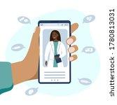 online medical advice or... | Shutterstock .eps vector #1780813031