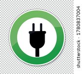 electric charging station sign. ... | Shutterstock .eps vector #1780837004