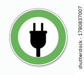 electric charging station sign. ... | Shutterstock .eps vector #1780837007