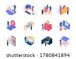 finance isometric icons set.... | Shutterstock .eps vector #1780841894