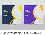 back to school web banner... | Shutterstock .eps vector #1780868324
