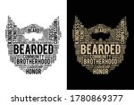 typography style bearded t...   Shutterstock .eps vector #1780869377