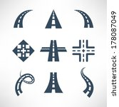 road icons set | Shutterstock .eps vector #178087049