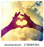 two hands making a heart shape ... | Shutterstock . vector #178089581