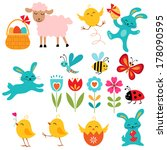 cute easter elements for your... | Shutterstock .eps vector #178090595