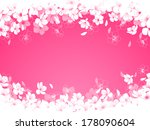 spring background with cherry... | Shutterstock .eps vector #178090604