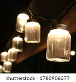 Mason Jar Lights  During Night