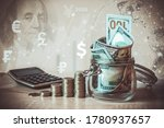 Coins Stack  Calculator  Dollar ...